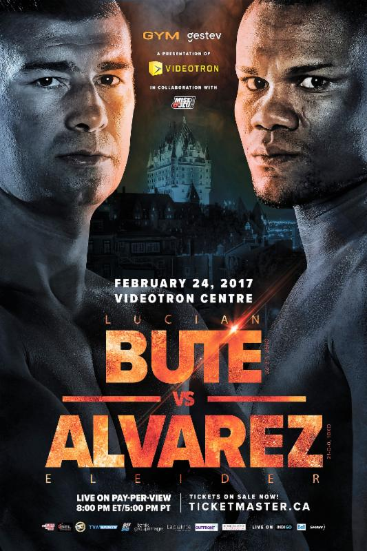 BUTE VS ALVAREZ,  24 februarie, Videotron Centre of Quebec City